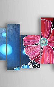 Oil Painting Decoration Flower Set of 5 Hand Painted Canvas with Stretched Framed Ready to Hang
