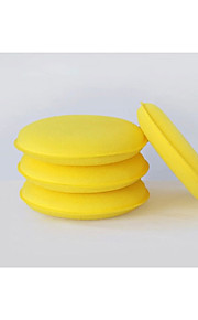 lavado de coches de vapor estándar esponja herramienta de cera, cera pequeñas esponjas redondas, esponjas de limpieza