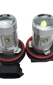 2 PC de gama alta Chev-rolet especial de la lámpara llevada de la niebla h8 h9 h11 30w 6 ficha de color blanco