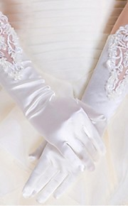 Wrist Length Fingertips Glove Spandex Bridal Gloves Spring / Summer / Fall / Winter lace