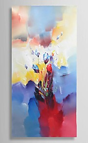 """Ready to hang Stretched Hand-Painted Knife Flower Oil Painting Canvas 40""""x20"""" Wall Art"""