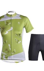 PALADIN Велоспорт Наборы одежды/Костюмы Жен. Короткие рукаваДышащий / Ультрафиолетоваяустойчивость / Быстровысыхающий / Сжатие