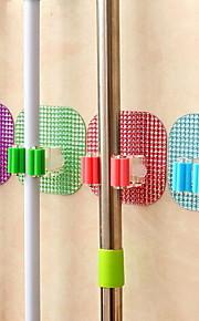 poderosa mop magia otário gancho grampo seamless vassoura mop plataforma cremalheira cristal (cor aleatória)