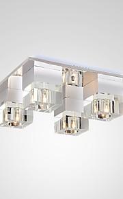 5 Takmonteret ,  Moderne / Nutidig Maleri Feature for Krystal / LED Metal Stue / Soveværelse / Læseværelse/Kontor