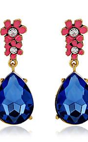 Forme Ovale,Bijoux 1 paire A la Mode / Vintage Bleu / Vert Cristal / Alliage / Plaqué or Soirée / Quotidien / Décontracté
