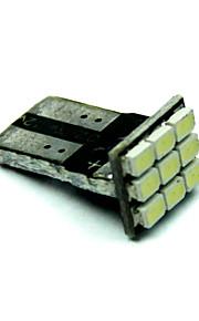10pcs T10 1206 9SMD coche blanco LED Auto marcadores bombillas de iluminación interior lámparas aclaramiento (dc12v)