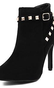 Women's Boots Fall / Winter Bootie / Pointed Toe Fleece Office & Career / Casual Stiletto Heel Rivet Black / Gray Others
