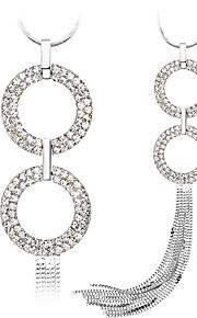 Modische Halsketten Anhängerketten Schmuck Aleación / Strass / versilbert / Rose Gold überzogen Hochzeit / Party / Alltag / NormalSchwarz