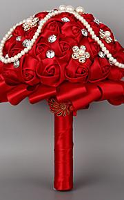 """Bouquets de Noiva Redondo Rosas Buquês Casamento Poliéster 7.48""""(Aprox.19cm)"""