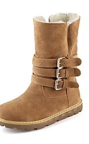 Women's Boots Fall / Round Toe Fleece Outdoor / Office & Career / Casual Wedge Heel Buckle Black / Yellow / Beige