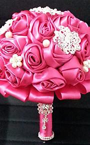Bouquet sposa Tondo Rose Bouquet Matrimonio Raso 18 cm ca.