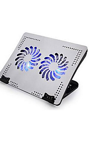 iDock -2 heldere zilveren laptop Cooling Stand