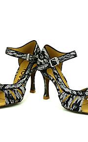 Sapatos de Dança(Preto) -Feminino-Personalizável-Latina / Salsa