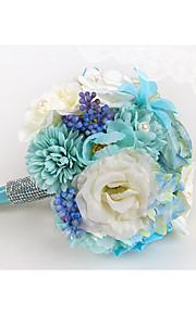"""Bouquets de Noiva Redondo Peônias Buquês Casamento Poliéster 7.87""""(Aprox.20cm)"""