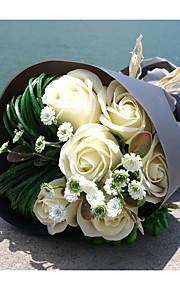 Bouquet sposa Tondo Rose Bouquet Matrimonio Schiuma 17 cm ca.