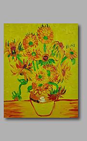 Hånd-malede Abstrakt / Blomstret/Botanisk Oliemalerier,Moderne Et Panel Canvas Hang-Painted Oliemaleri For Hjem Dekoration