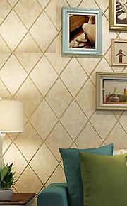 Vintage American Rustic Plaid Ceramic Tile Brick Wallpaper Bedroom Living Room Wall Decor Nonwoven 3D Wall Paper