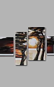 Dipinta a mano Astratto / Paesaggi / Natura morta / Fantasia / Paesaggi astratti Dipinti ad olio,Modern / Pastorale / Stile europeo