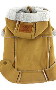 Perros Abrigos Marrón / Amarillo Invierno / Primavera/Otoño Un Color Paravientos: / Mantiene abrigado, Dog Clothes / Dog Clothing-Other