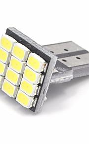 10pcs T10 1206 12SMD llevó coche blanco auto marcadores bombillas de iluminación interior lámparas aclaramiento (dc12v)