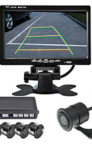 renepai® 7-дюймовый 4 датчика парковочные датчики ЖК-дисплей камеры видео автомобиля обратный Резервное копирование радар Комплект системы