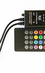 zdm® 20 clé musique infrarouge 70w contrôleur conduit pour les lumières de bande LED RGB (DC12-24V)