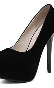 Women's Heels Summer / Fall Heels / Round Toe Fleece Office & Career / Casual Stiletto Heel Others Black / Red Others