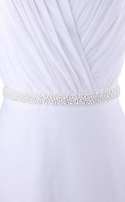 Satin Mariage / Fête/Soirée / Quotidien Ceinture-Billes / Perles Femme 250cm Billes / Perles