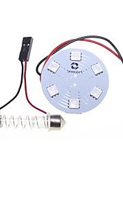 t10 BA9S slinger adapters koepel 5050 9SMD 3 chips RGB LED auto lichtkoepel of leeslamp 12v