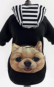 Собаки Толстовки / Джинсовые куртки Черный Одежда для собак Зима Полоски Мода /