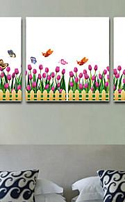 Fleur / arbres/Feuilles / Décoration artistique Fond d'écran pour la maison Contemporain Revêtement , PVC/Vinyl Matériel adhésif requis