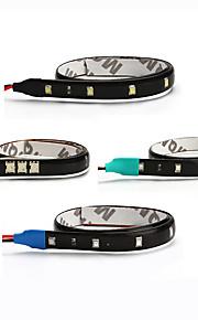 ziqiao 2stk / lot 30cm 15 SMD hvid vandtæt lys høj effekt bil auto indretning fleksible førte strimler