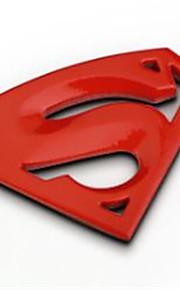 personalità automobilistica intonaco decorativo adesivi superman loghi auto 3d metallo