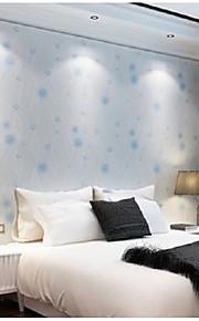 Fleur / Rayure / Décoration artistique Fond d'écran pour la maison Contemporain Revêtement , Tissu Non-Tissé Matériel adhésif requisfond