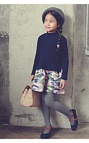 Mädchen Kleid / Rock-Ausgehen Einfarbig Baumwolle Frühling / Herbst Blau