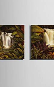 Landschaft Leinwand drucken zwei Panele Fertig zum Aufhängen,Quadratisch