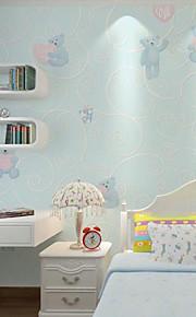 Cozy Cartoon Animal Children 3D Wallpaper For Walls Kids Girls Boys Bedroom Decor Embossed Non Woven Wallpapers