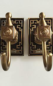 selbstklebend mit 3M zurück Aufkleber gelb-Bronze Haken 6pcs / set yg6pc-4 Kleiderhaken