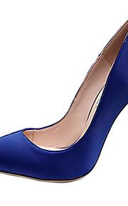 Homme-Mariage / Décontracté / Soirée & Evénement-Noir / Bleu / Rose / Violet / Rouge-Talon Aiguille-Salomé-Chaussures à Talons-Soie