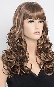 28inch Long Curly Brown Blonde Two Tone Color Hair Wigs Sexy Fashion Women Night Pub Classic Hair Style