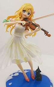 Din Lie i april Cosplay PVC 22CM Anime Action Figurer Modell Leker Doll Toy