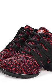 Sapatos de Dança(Preto / Vermelho / Cinza) -Feminino-Não Personalizável-Moderna