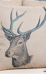 1 pcs Coton/Lin Taie d'oreiller,Nouveauté / Imprimé animal / Imprimés Photos Moderne/Contemporain / Traditionnel/Classique