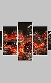 Abstrakt / Landschaft / Cartoon Design Leinwand drucken Fünf Panele Fertig zum Aufhängen,Quadratisch