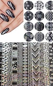 16 Nagel-Kunst-Aufkleber Stempelglanz / Folie Stripping Band Make-up kosmetische Nail Art Design