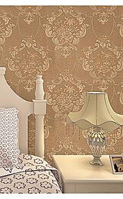 Damas / Rayure / Décoration artistique / 3D Fond d'écran pour la maison Contemporain Revêtement , Tissu Non-Tissé Matériel adhésif requis