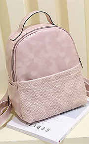 Women PU Casual / Outdoor / Shopping Backpack Pink / Gray / Black