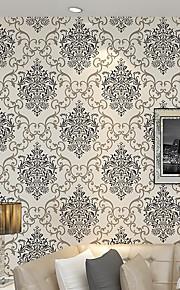 European Simple Luxury Glitter Damask Wallpaper For Walls 3 D Bedroom Living Room Sofa Tv Embossed Wall Paper Rolls