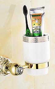 Soporte para Cepillo de Dientes / Gadget para Baño / Latón Antiguo / Montura en Pared /3.9*3.9*5.9 inch /Latón /Contemporáneo /10CM 10CM