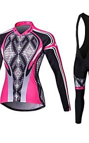 Спорт® Велоспорт Сжатие костюм / Велоспорт Колготки / Джерси + велобрюки Жен. Длинные рукаваДышащий / Высокаявоздухопроницаемость(>15